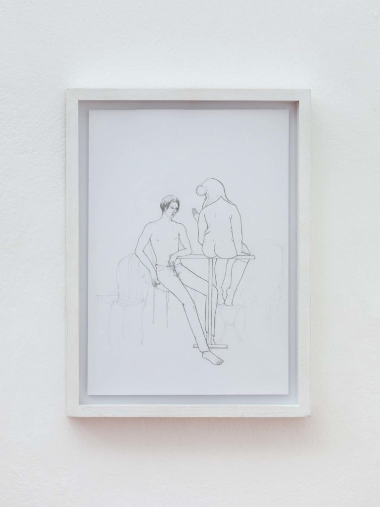 Conversation Piece, 2020, pencil on paper, 25 x 35 cm, ph. Daniele Molajoli