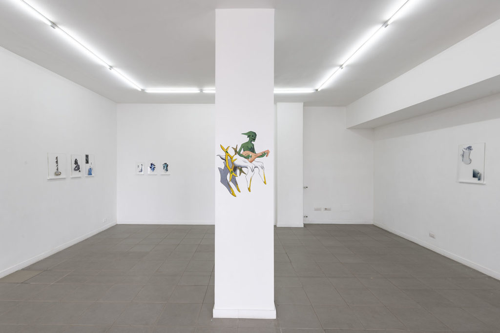 Petrichor, installation view at The Gallery Apart Rome (ground floor), 2019, ph. Giorgio Benni