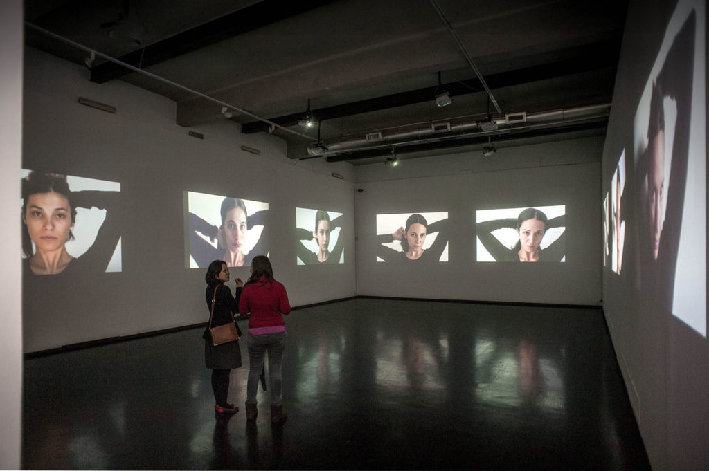 Allo specchio, 2015, installation video, loop, 00:01:26, installation view at MACRO Rome, ph. Daniela Pellegrini