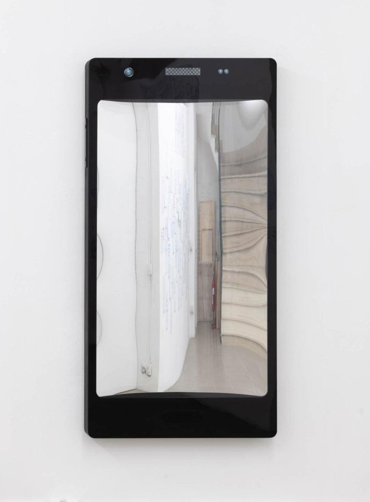 Specchio delle mie brame, 2019, wood and plexiglass, 160 x 80 x 8 cm, ph. Giorgio Benni