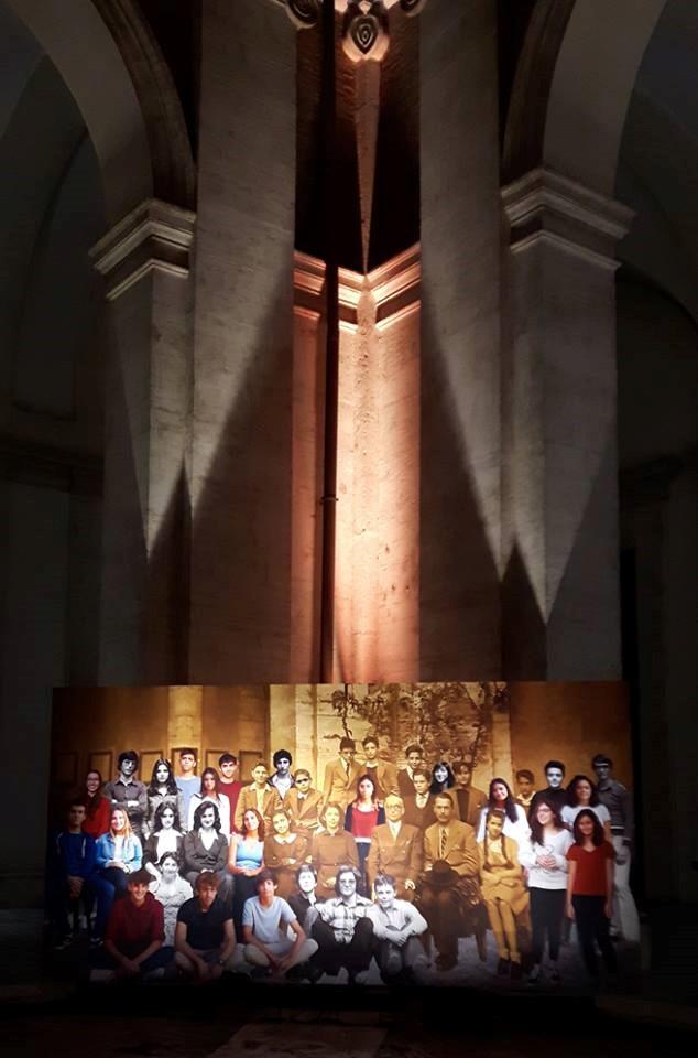 Il legame con la storia libera l'immaginazione, 2017, installation view at Liceo Ennio Quirino Visconti Rome