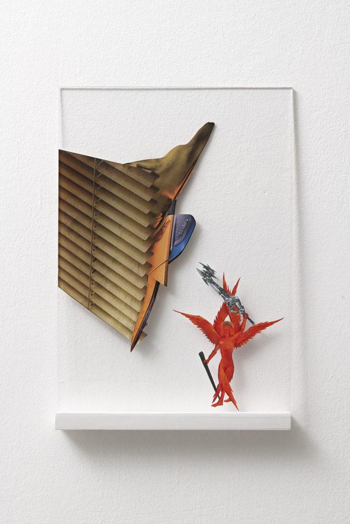 Memento Mori #3, 2019, collage, 45x25 cm, ph. Giorgio Benni