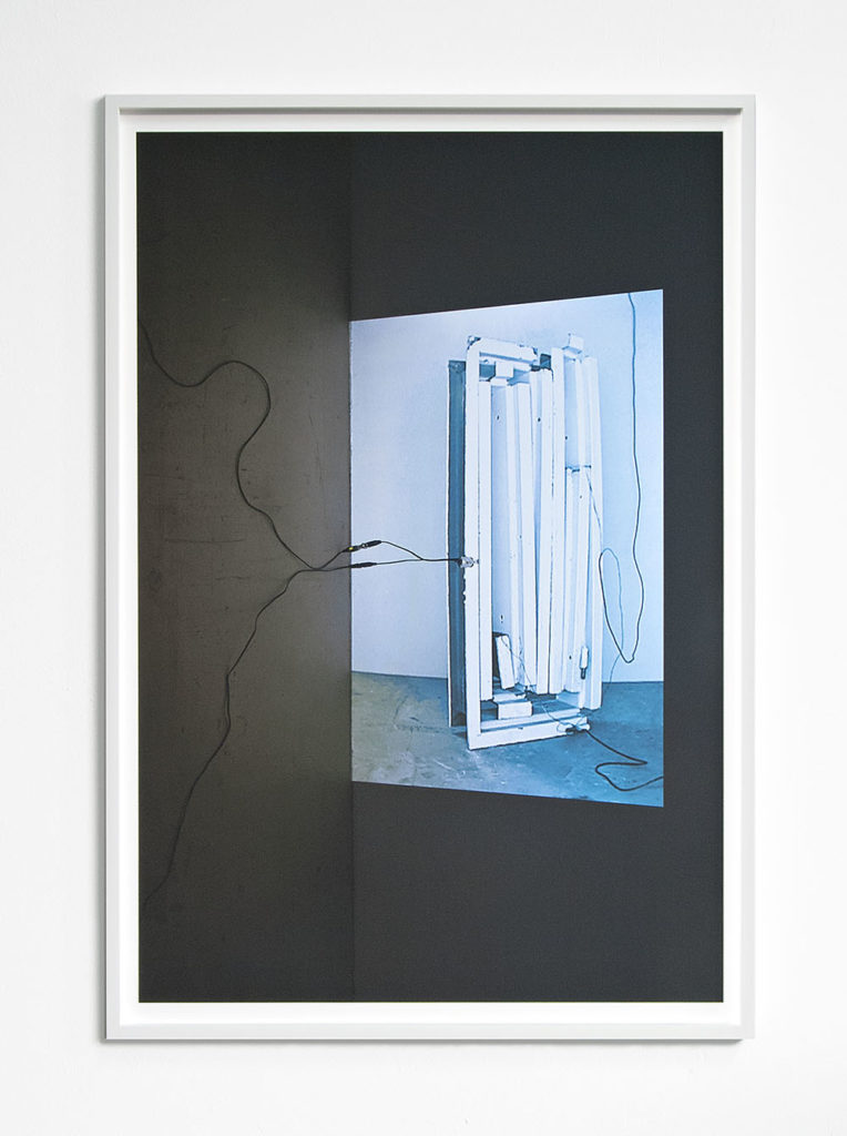 Live Wires (Conducting Blue), 2015, cm 80 x 53, c-print, framed behind glass, ed. 3+1AP