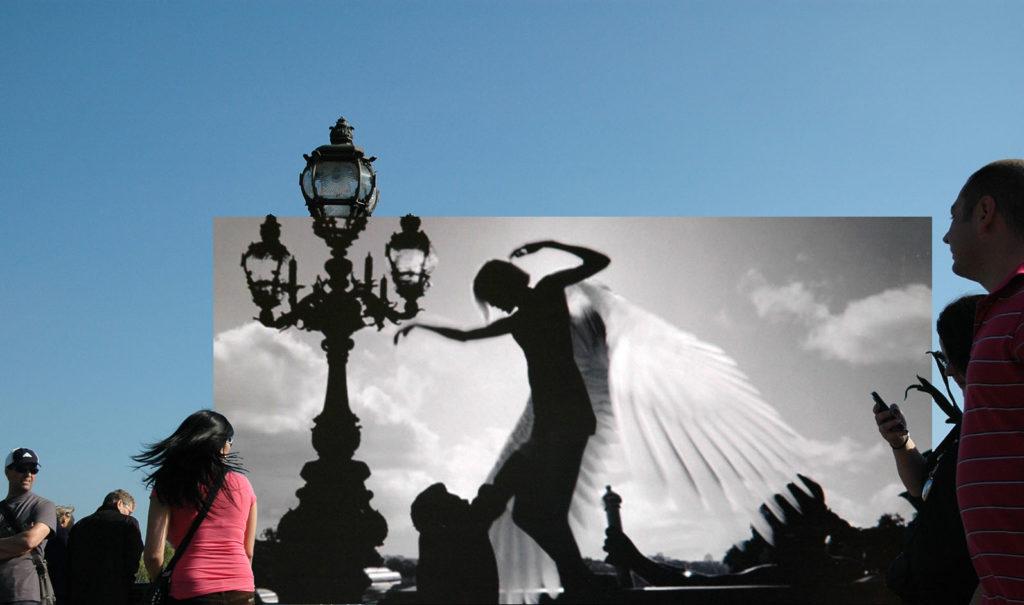 Still here, Angel-A – Pont Alexandre III, 2009-2013, digital photo print on aluminium, cm 59X100x2