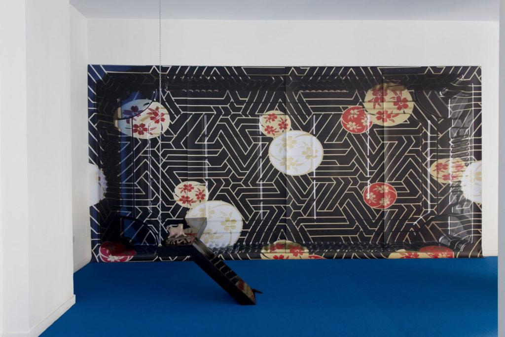 Shadow rift, installation view at The Gallery Apart Rome (ground floor), 2016, ph. Giorgio Benni