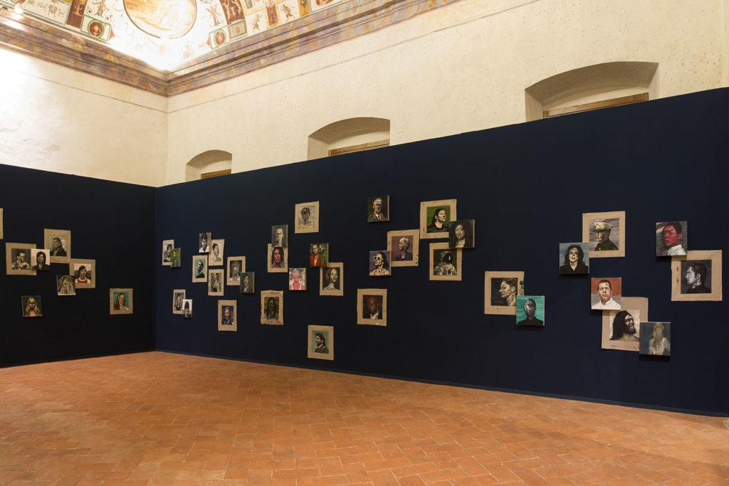 Uppercrust - Heads, installation view at Palazzo della Corgna, Castiglione del Lago, 2019