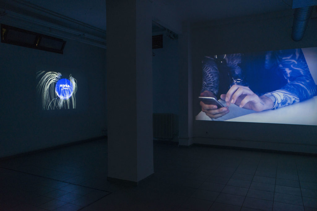 The Dead by Many Firsts, 2016, 2 channel video, 00:04:03, Shadow rift, installation view at The Gallery Apart Rome (basement), 2016, ph. Giorgio Benni