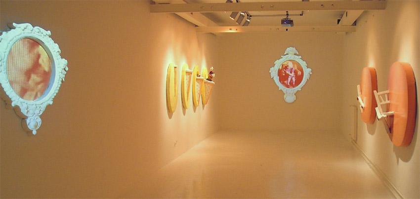 why?, installation view at Fondazione Pastificio Cerere, 2005