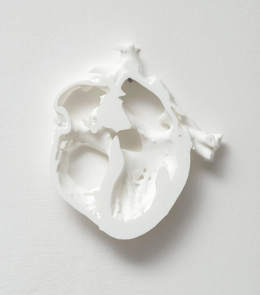Binary sever, 2015, 3D printed nylon, cm 16 x 14 x 2, ed. 1/3, ph. Giorgio Benni
