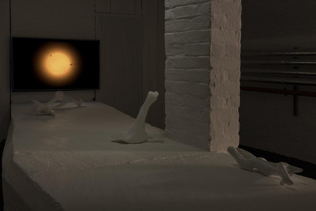 Anastasis, 2017, installation view at White Crypt, London. Photo: Damian Griffiths