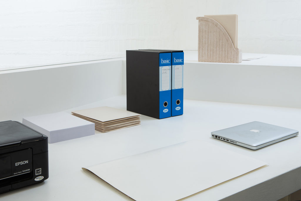 Darsena Residency #2, 2016, installation view at Galleria Massimodeluca, Venice. Photo: Gianluca Moscoloni